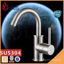 Nuevos productos SUS 304 grifo de lavabo de acero inoxidable de lujo