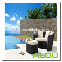 Audu Rattan Outdoor Daybed - модульный черный ротанга с подушками