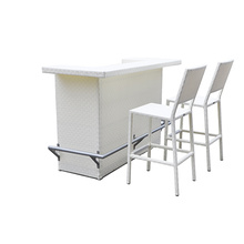 Vintage Outdoor Metal Chairs with Bar table