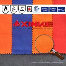 Tela tecida resistente ao fogo do iiam do aramid do meta de Xinke para o workwear industrial