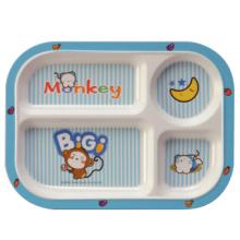 100% Melamine Dinnerware- Kid′s Tableware Children 4-Divided Plate (BG824)