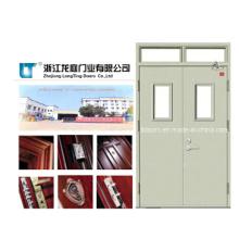 Porte résistant au feu en acier avec barre anti-panique