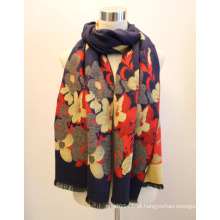 Senhora moda viscose tecido jacquard franjas xaile (yky4413)