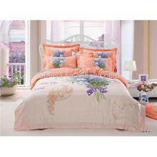 Tela de algodão 133 * 72 200TC reativa impressão Quilt Cover conjunto de cama Made in China