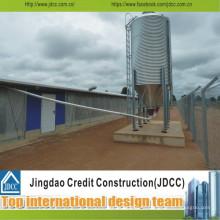 Hangar léger d'entrepôt de structure en acier