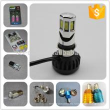 Muchos tipos de bombilla COB luz BA20D luz 12V 6W motocicleta LED