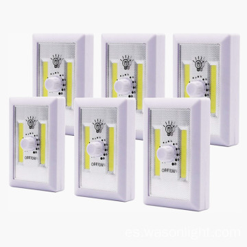 Interruptor de luz inalámbrico COB LED regulable con pilas
