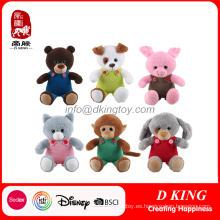 Coloridos juguetes de felpa de animales de peluche Set Stuffed Toy