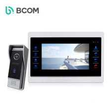 Bcomtech intercomunicador edificio 4 wired 7inch Video doorbell with  Anti-theft function for home security system