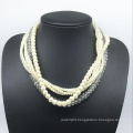 Glass Pearl Glass Beads Six Rolls Necklace (XJW13781)