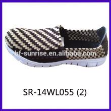 2014 nuevos estilos SR-14WL055 mezclan los zapatos tejidos mano de la correa de los colores de la mezcla
