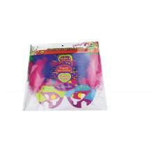 niños DIY pluma máscara de papel de fiesta