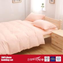 Ropa de cama de lino lavado Ropa de cama Juego de ropa de cama