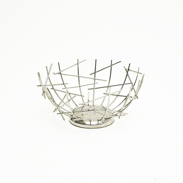 High Quality Kitchen Storage Creative Countertop Iron Plated Vegetable Metal Wire Bowl Fruit Basket
