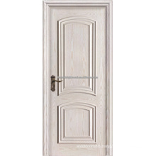 Arc Top 2 Panel Swing White Painted Veneered Interior MDF Raised Molding Doors