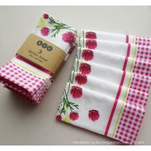 (BC-KT1003) Toalla de cocina 100% algodón de moda atractiva