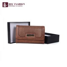HEC China Brands Ladies PVC PU Leather Big Capacity Phone Purse