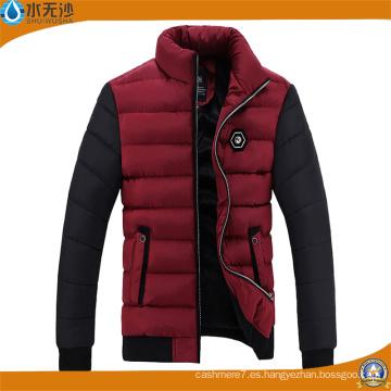 Chaqueta casual al aire libre de la chaqueta de la chaqueta caliente del invierno de los hombres de encargo