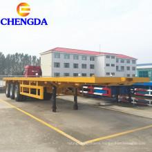 40 ft flatbed semi trailer 2 axle trailer