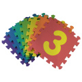 10 PC Soft EVA Foam Baby Niños Kids Play Mat Number Puzzle Jigsaw Actividad Foam Soft Acolchado - Numbers Mats