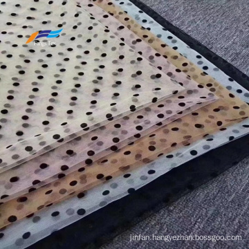 100% Polyester Flocking Flocked Woven Voile Abaya Fabric
