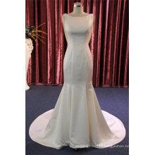 High Quality Mermaid Satin Beading Evening Bridal Wedding Dress