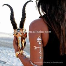 Bling Bling Body Decoration Longue durée Autocollant Poisonless Métallique Autocollant De Tatouage