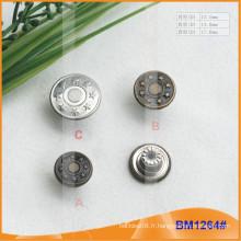 Fabricant BM1264 en métal personnalisé de qualité Custom Button
