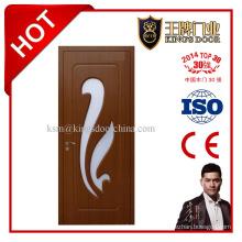 Интерьер МДФ деревянные двери ПВХ со стеклом Алмазная