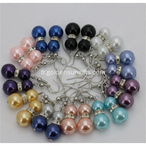 Colorful Sea Shell Pearl Eardrop Boucles d'oreilles Beads Jewelry