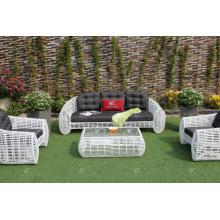 Increíble diseño de bambú sintético sofá de ratán para jardín o sala de estar al aire libre