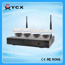 Hot sale 4CH Full hd 720P P2P Onvif nvr kit d'appareil photo sans fil caméra de surveillance pour intérieur et extérieur