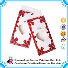 Пользовательские формы сердца Коробка подарка шоколада Упаковывая для приглашение на свадьбу