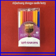 Isreal pasar Multicolor Hanukkah Candles