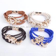 Vente en gros 2014 nouveaux produits en cuir véritable bracelets
