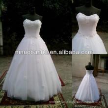 СЗ-479 цветок из бисера бальное платье реальный образец свадебное платье 2014