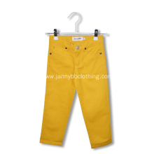 elastic waist cotton girls pants