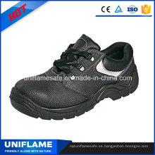 Zapatos de seguridad de cuero del dedo del pie de acero para hombres Ufa016