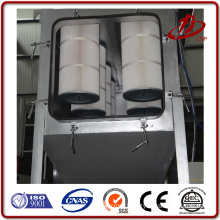 Small footprint large filter area filter cartridge dust collector