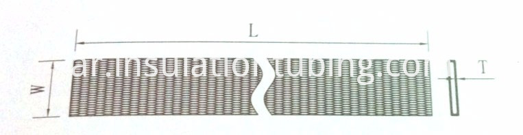 Nylon cable sleeving product size drawing
