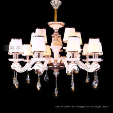 Lámpara de araña blanca de techo de zinc lámpara colgando iluminación 88636
