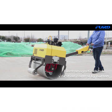 Hydraulic Drive FYL-750 Hand Held Single Steel Road Roller Machine