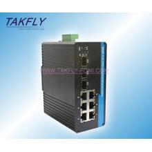 10/100 / 1000m DIN-Schienenmontage Industrial Ethernet Switch