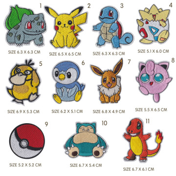 Pokemon serie Squirtle animale cucito ricamo