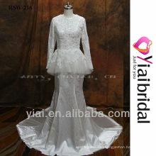 RSW216 Long Sleeve Muslim Wedding Dress
