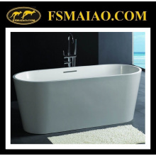Standard Ellipse Freestanding Stone Resin Bathtub Matt White (BS-8604)