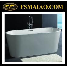 Branco autônomo da banheira da resina da pedra autônoma da elipse padrão (BS-8604)