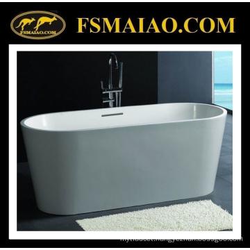 Standard Ellipse Freestanding Stone Resin Bathtub Matt White (BS-8604)