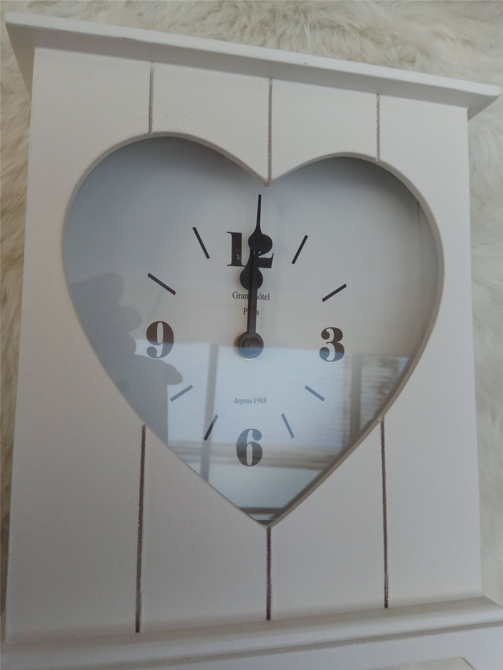 white high quality wooden clock