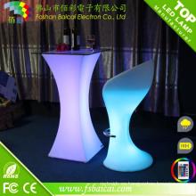 Al aire libre recargable impermeable LED tabla de cócteles usado discoteca LED cóctel mesa muebles para la venta